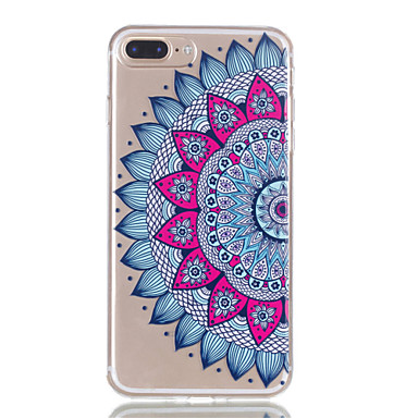 Pentru iphone 7plus 7 tpu material jumătate floare model de relief telefon caz 6s plus 6plus 6s 6 se 5s 5