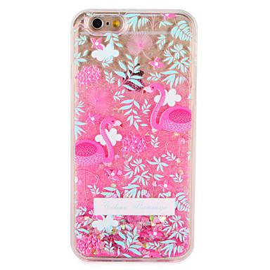 Maska Pentru Apple iPhone 7 Plus iPhone 7 Scurgere Lichid Model Capac Spate Flamingo Floare Luciu Strălucire Greu PC pentru iPhone 7 Plus