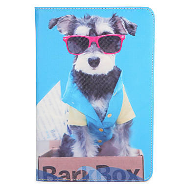 Voor appel ipad mini1 2 3/4 case hoesje met tribune flip-patroon volle-hoesje hond hard pu leer