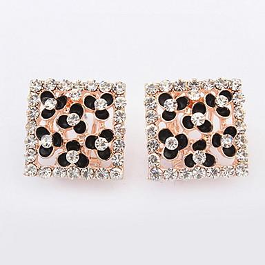 Bărbați Pentru femei Cercei Rotunzi  Diamant sintetic Design Basic Sexy La modă Vintage Personalizat Cute Stil Euramerican Ștras Aliaj