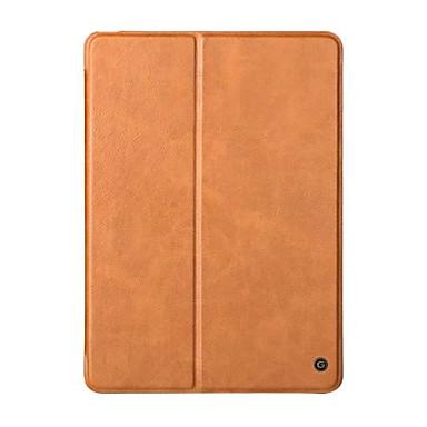 Hülle Für Apple Stoßresistent mit Halterung Flipbare Hülle Ganzkörper-Gehäuse Volltonfarbe Hart Echtleder für iPad 9.7 (2017) Apple