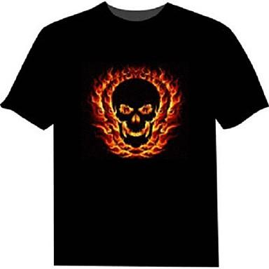 billige Originale LED-lys-LED T-skjorter 100% Bomull 2 AAA Batterier