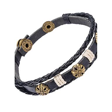 للرجال أساور من الجلد مجوهرات الطبيعة موضة والمجوهرات جلد سبيكة مجوهرات من أجل مناسبة خاصة الرياضة