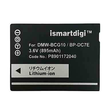 Ismartdigi bcg10 3.6v baterie de camera 895mah pentru panasonic dmc zs20 zs1 zr3 zs3 zs5 zs7 gk