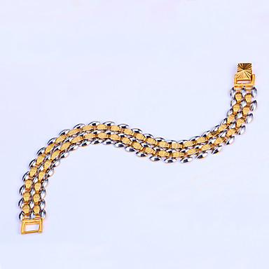 للرجال أساور السلسلة والوصلة قديم الطبيعة موضة بانغك نحاس Geometric Shape مجوهرات زفاف حزب مناسبة خاصة خطوبة هدية مجوهرات ذهبي