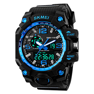 SKMEI Homme Numérique Montre numérique Montre de Sport Alarme Calendrier Silikon Bande Cool Noir