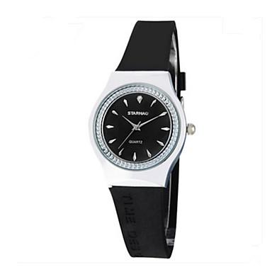 Dames Modieus horloge Chinees Kwarts Rubber Band Informeel Zwart