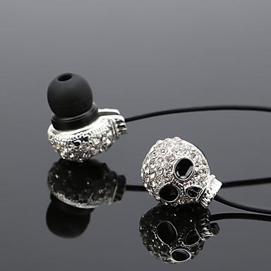 Weibliche Diamant Schädel Metall Ohr Typ Handy Headset Subwoofer