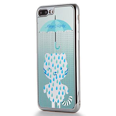 لتفاح iphone7 7 زائد حالة تغطية طلاء مرآة نمط الغطاء الخلفي حالة القط لينة تبو 6 ثانية زائد 6 زائد 6 ثانية 6