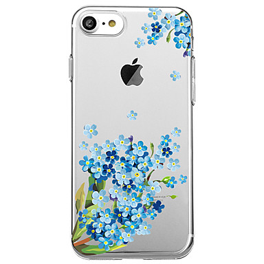 Hülle Für Apple Transparent Muster Rückseitenabdeckung Blume Weich TPU für iPhone 7 plus iPhone 7 iPhone 6s Plus iPhone 6 Plus iPhone 6s