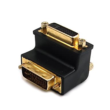 DVI Adapter, DVI to DVI Adapter Male - Female 1080P Vergoldetes Kupfer 1.0 Gbps