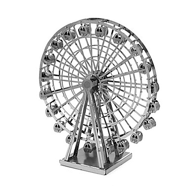 puzzle-uri Puzzle 3D Blocuri de pereti DIY Jucarii Arhitectură Metal Jucărie de Construit & Model