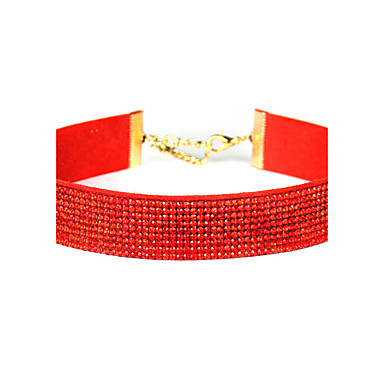Pentru femei Coliere Choker Bijuterii Bijuterii Ștras Aliaj Modă Euramerican Bijuterii Pentru Petrecere Ocazie specială