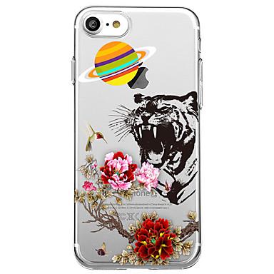 Maska Pentru Apple Transparent Model Carcasă Spate Animal Floare Moale TPU pentru iPhone 7 Plus iPhone 7 iPhone 6s Plus iPhone 6 Plus