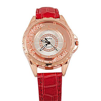 Dames Modieus horloge Kwarts Leer Band Wit Blauw Rood