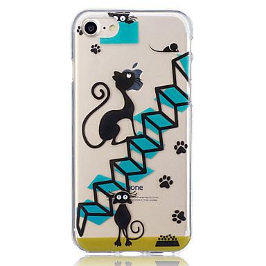 hoesje Voor Apple iPhone 7 Plus iPhone 7 Patroon Achterkant Kat Zacht TPU voor iPhone 7 Plus iPhone 7 iPhone 6s Plus iPhone 6s iPhone 6
