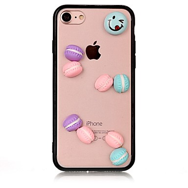 hoesje Voor Apple iPhone 7 Plus iPhone 7 Schokbestendig Achterkant Voedsel 3D Cartoon Hard Acryl voor iPhone 7 Plus iPhone 7 iPhone 6s