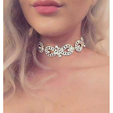 Pentru femei Infinit Lux Modă Euramerican Coliere Choker Ștras Aliaj Coliere Choker . Nuntă Petrecere