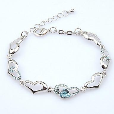 Dames Armbanden met ketting en sluiting Sieraden Natuur Modieus Vintage Met de hand gemaakt Kostuum juwelen Kristal Legering Ovalen vorm