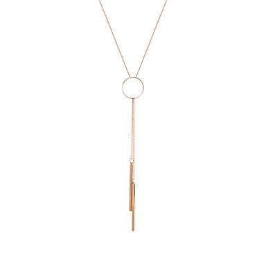 Damen Y Halskette  -  Strass, Rose Gold überzogen Einzigartiges Design, Anhänger Stil Gold Modische Halsketten Für Weihnachts Geschenke, Geburtstag, Geschenk