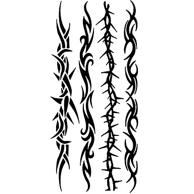 1 Muster Unterer Rückenbereich Waterproof Totem Serie Tattoo Aufkleber