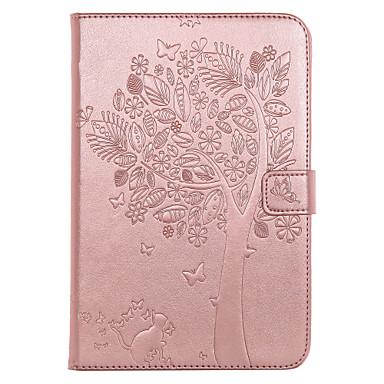 Hülle Für Apple iPad Mini 4 iPad Mini 3/2/1 Kreditkartenfächer Geldbeutel mit Halterung Flipbare Hülle Geprägt Ganzkörper-Gehäuse Hart PU