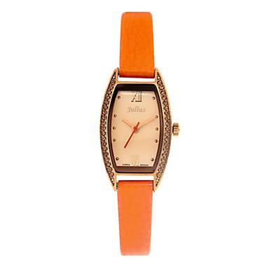 Dames Modieus horloge Kwarts Waterbestendig Leer Band Informeel Zwart Wit Blauw Rood Orange