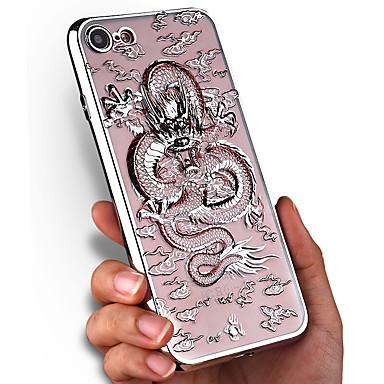 من أجل أغط / كفرات تصفيح شفاف نموذج غطاء خلفي غطاء حيوان ناعم TPU إلى Apple فون 7 زائد فون 7
