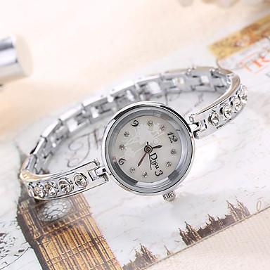 Damen Einzigartige kreative Uhr Armbanduhren für den Alltag Modeuhr Armbanduhr Quartz Legierung Band Charme Luxus Kreativ Freizeit