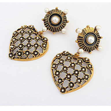 Damen Ohrstecker Tropfen-Ohrringe Kreolen Schmuck Synthetischer Opal Basis Einzigartiges Design Logo Stil Perle Freundschaft Gothic