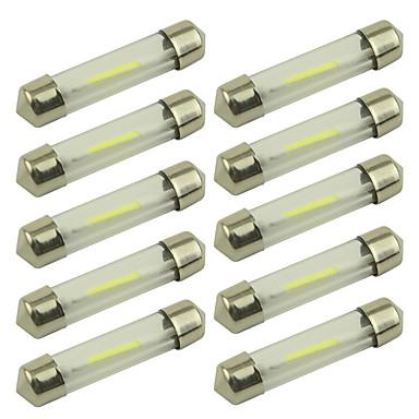 voordelige Motorverlichting-10 stuks 36mm Automatisch Lampen 1 W COB 100 lm 1 LED Interior Lights For Universeel Alle jaren