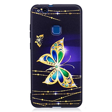 Voor huawei p10 lite p9 lite case cover vlinder patroon reliëf back cover soft tpu p8 lite 2017