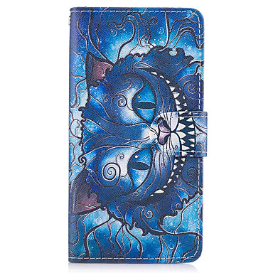 cheap Galaxy A3 Cases / Covers-Case For Samsung Galaxy A3(2017) / A5(2017) / A5(2016) Wallet / Card Holder / with Stand Full Body Cases Cat Hard PU Leather