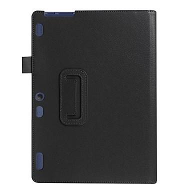 Pentru carcasa cazului cu stâlp flip carcasă integrală culoare solidă piele mo soft pentru piele pentru lenovo tab2 a10-70f / lca10-30f