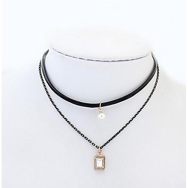 Pentru femei Geometric Shape Formă Personalizat Bijuterii Religioase Lux Γεωμετρικά Clasic Vintage Stras Boem De Bază Sexy Pătrat