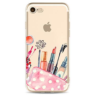 Hülle Für Apple Transparent Muster Rückseitenabdeckung Sexy Lady Weich TPU für iPhone 7 plus iPhone 7 iPhone 6s Plus iPhone 6 Plus iPhone