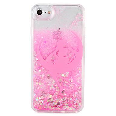 Caz pentru Apple iPhone 7 7 plus sexy doamna strălucire model strălucire curge lichid greu pc 6s plus 6 plus 6s 6