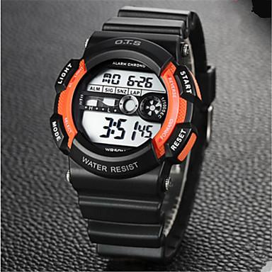Heren Modieus horloge Chinees Digitaal Rubber Band Informeel Zwart