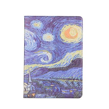 Maska Pentru Apple Titluar Card Cu Stand Auto Sleep / Wake Întoarce Carcasă Telefon Decor Greu PU piele pentru iPad 9.7 (2017) Apple