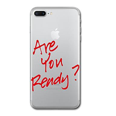غطاء من أجل Apple شفاف نموذج غطاء خلفي جملة / كلمة ناعم TPU إلى iPhone 7 Plus iPhone 7 iPhone 6s Plus iPhone 6 Plus iPhone 6s iPhone 6
