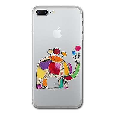 hoesje Voor Apple Transparant Patroon Volledige behuizing Olifant Zacht TPU voor iPhone 7 Plus iPhone 7 iPhone 6s Plus iPhone 6 Plus