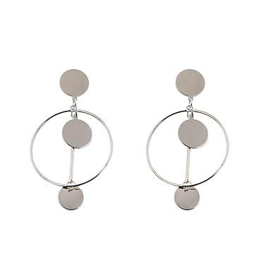 للمرأة أقراط قطرة مجوهرات موضة شخصية euramerican في سبيكة Circle Shape مجوهرات من أجلزفاف عيد ميلاد حفلة/سهرة مناسبة / حفلة لباس يومي