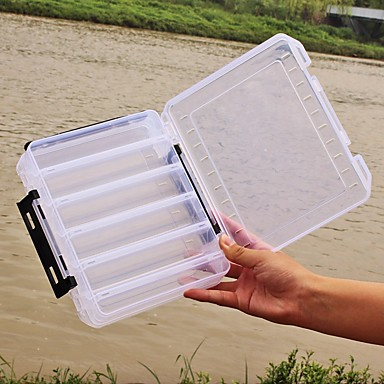 Cutii de Scule pentru Pescuit Cutie momeală 2 Tăvi Plastice 20*6 3/4