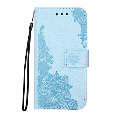 غطاء من أجل Samsung Galaxy S7 edge S7 حامل البطاقات محفظة مع حامل قلب مطرز نموذج مغناطيس كامل الجسم زهور الطباعة الدانتيل قاسي جلد اصطناعي
