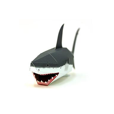 3D - Puzzle Papiermodel Papiermodelle Modellbausätze Fische Shark 3D Heimwerken Klassisch Unisex Geschenk