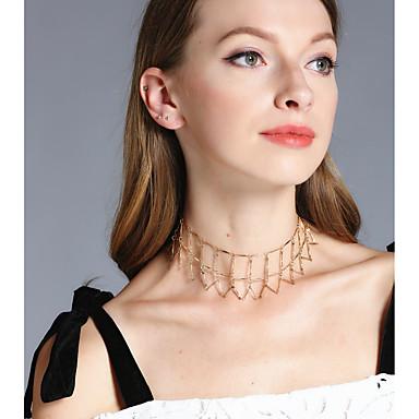 Damen Geometrische Form Gestalten Personalisiert Einzigartiges Design Handgemacht Euramerican Modisch Statement Ketten Schmuck Kupfer