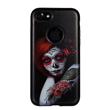 Maska Pentru Apple Anti Șoc Embosat Model Carcasă Spate Femeie Sexy Floare Greu PC pentru iPhone 7 Plus iPhone 7 iPhone 6s Plus iPhone 6
