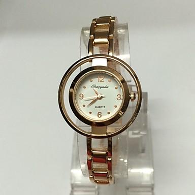 Dames Skeleton horloge Armbandhorloge Kwarts Legering Band Glitter Vrijetijdsschoenen Goud Rose