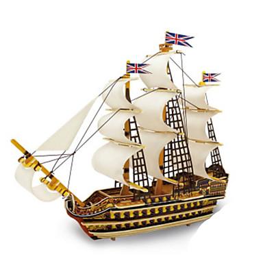 3D - Puzzle Metallpuzzle Holzmodelle Modellbausätze Kriegsschiff Heimwerken Naturholz Klassisch Kinder Erwachsene Unisex Geschenk