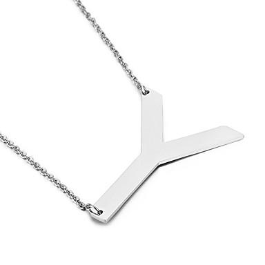 Heren Dames Hangertjes ketting Alfabetvorm Roestvast staal Vriendschap Modieus Initial Jewelry Sieraden Voor Feest Verjaardag Dagelijks
